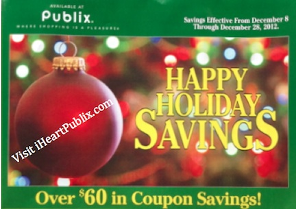 green adv publix dec Publix Green Advantage Buy Flyer Happy Holiday Savings 12/8 to 12/28