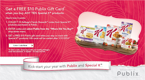 special k publix Reminder   Get Your Special K Products & Earn A $10 Publix Gift Card