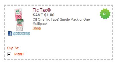 tic tac New Tic Tac Coupon & Reminder