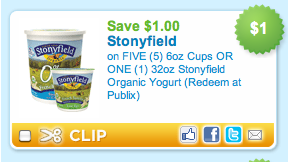 Screen shot 2011 03 11 at 9.55.26 AM Stonyfield Yogurt Coupon = 40¢ Per Cup At Publix