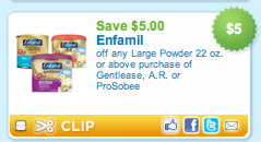 Screen shot 2011 04 11 at 11.10.19 PM Combine Coupons To Save $16 Off Two Cans Of Enfamil Formula!