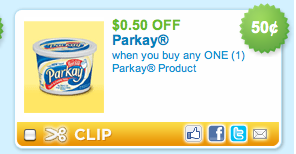 Screen shot 2011 04 15 at 8.29.36 PM New Printable = Parkay For 50¢ At Publix!