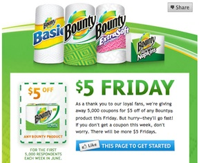 bounty 5 Bounty $5 Friday