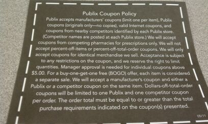 publix coupon policy Publix Coupon Policy
