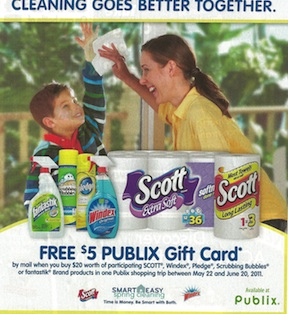 smart easy rebate Publix Gift Card Offer In 5/22 SmartSource