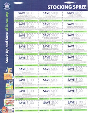 stocking spree2 New Stocking Spree Coupon Sheet