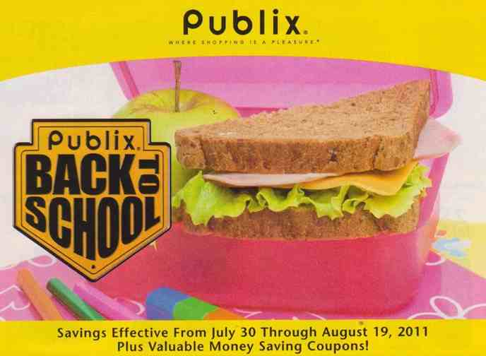 Publix Back To School Yellow Publix Yellow Flyer Back to School (7/30 to 8/19)