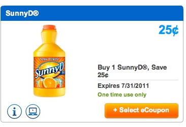 sunny d upromise1 July Upromise Coupons Ready To Load
