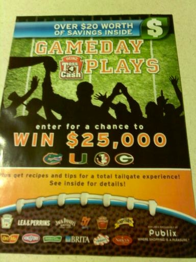 gameday publix New Publix Booklet   Toss 4 Cash Gameday Plays