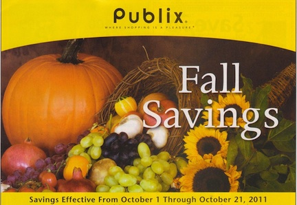 fall savings yellow Publix Yellow Advantage Buy Flyer   Fall Savings 10/1   10/21