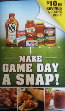 make game day a snap1 New Coupon Booklet   Make Game Day A Snap