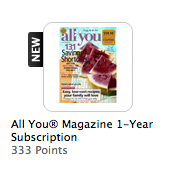 Screen Shot 2012 02 15 at 12.18.17 PM Magazine Deals At MyCokeRewards   AllYou Only 333 Points