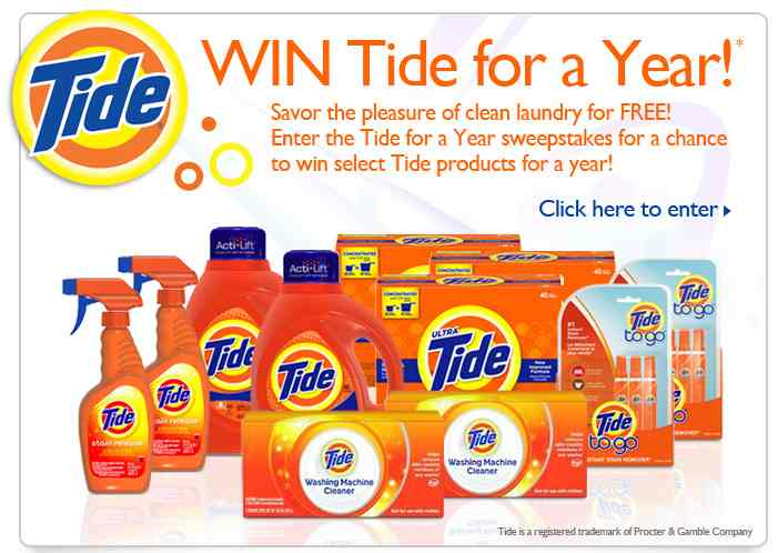 tide sweeps Tons Of Sweepstakes   Enter To Win