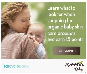 aveeno baby 45 More Recyclebank Points Available Today