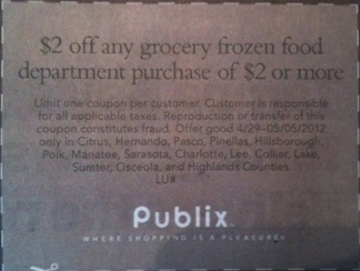 publix frozen food Win Publix Coupons   $2 Off Frozen Grocery Product