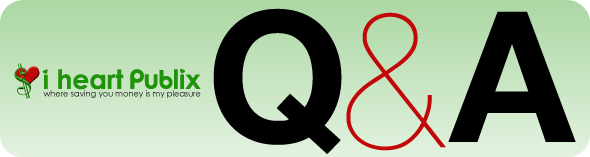 Publix QA 2 Coupon Question and Answer   Ask I Heart Publix 10/9