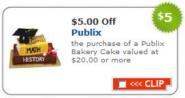 Publix Coupon - $5 Off Bakery Cakes - I Heart Publix