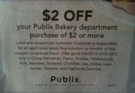 publix cakes coupons