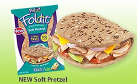 Flatout Soft Pretzel Foldit product Flatout Coupon   Great Deal At Publix