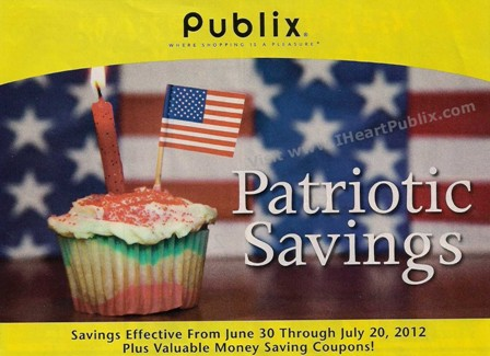YAB63012 CoverTop s Publix Yellow Advantage Buy Flyer & Coupons   Patriotic Savings (6/30   7/20)