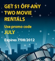 JULY extrashort Blockbuster Express Code Valid Through 7/8