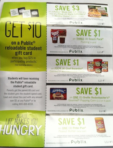 Publix Coupons & Rebate - ConAgra Back To College Promotion