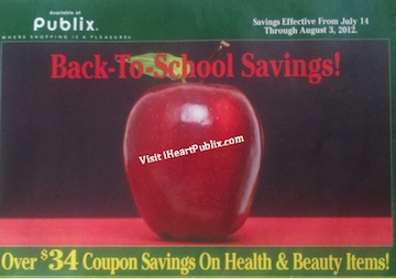 publix green back to school Publix Green Advantage Buy Flyer Back to School Savings Super Deals (7/14 to 8/3)