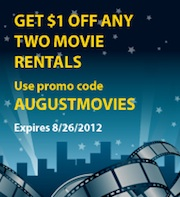 AUGUSTMOVIES extrashort1 Blockbuster Express Code Good Through 8/26