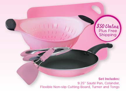 Cooking Up Early Detection Cooking Up Early Detection Pink Cookware Set   Share Your Scenario