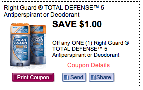 Screen Shot 2012 09 07 at 2.13.01 PM Right Guard Coupon   58¢ Deodorant At Publix