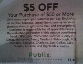 publix coupon 5-50