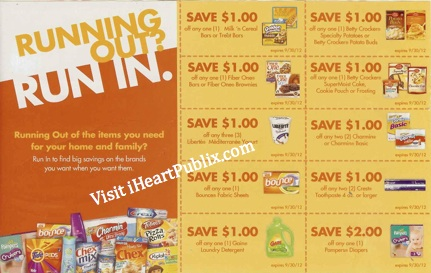 publix coupons publix booklet Publix Coupons   Running Out? Run In Sheet (exp 9/30)