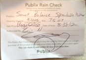 publix rain check Lets Talk About Publix Rain Checks & Target Coupons (Share Your Thoughts)