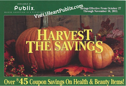 publix green advantage novemeber 12 Publix Green Advantage Buy Flyer & Coupons   Harvest The Savings (10/27   11/16)
