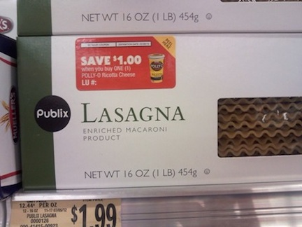 PollyO Peelie PQ s copy Publix Coupon   $1 Off Polly O Ricotta