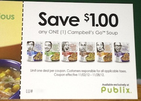 campbells go soup coupon Publix Coupon Found   Makes The Campbells Go Soups Only 50¢