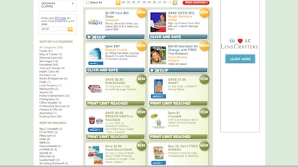old coupons.com  Coupons.com New Format   Love It Or Hate It? Share Your Thoughts