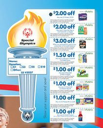 Special Olympics Special Olympics Donation Sheet   Publix Coupons Available
