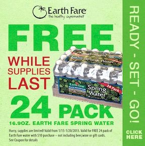 earth fare coupon Earth Fare Coupon   Free 24 Pack Of Spring Water