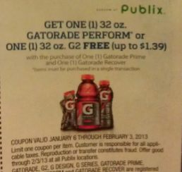gatorade publix Check Your Papers   Publix Coupons & Sweetbay Coupon For Some