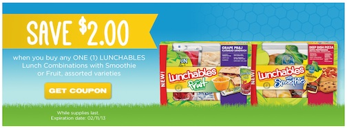 lunchables publix coupon Publix Coupon On Cooking With Kraft   $2 Lunchables Coupon