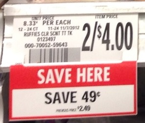 publix tag Getting The Most Bang For Your Buck   Price Per Ounce/Per Item