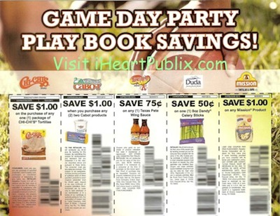 GameDayParty s copy Game Day Party Play Book Savings Coupon Sheet At Publix