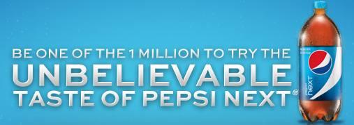 Pepsi Next coupons