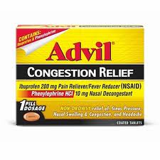 Free Advil Congestion Products with Coupons and Rebate