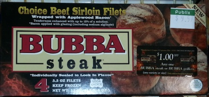 bubba publix Bubba Steaks As Low As $4 Per Pack At Publix