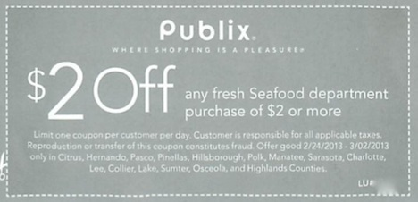 publix coupon seafood Sunday Coupon Preview For 2/24   Publix Coupons For Some!