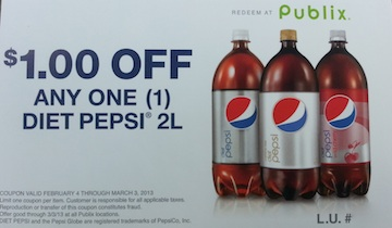 publix pepsi coupon Publix Pepsi Coupon   Be On The Lookout
