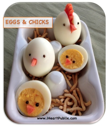 eggs chicks Easter Breakfast Ideas For The Kids