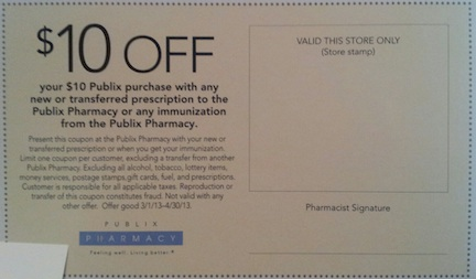 publix pharmacy coupon Publix Pharmacy Coupon   Valid Through 4/30